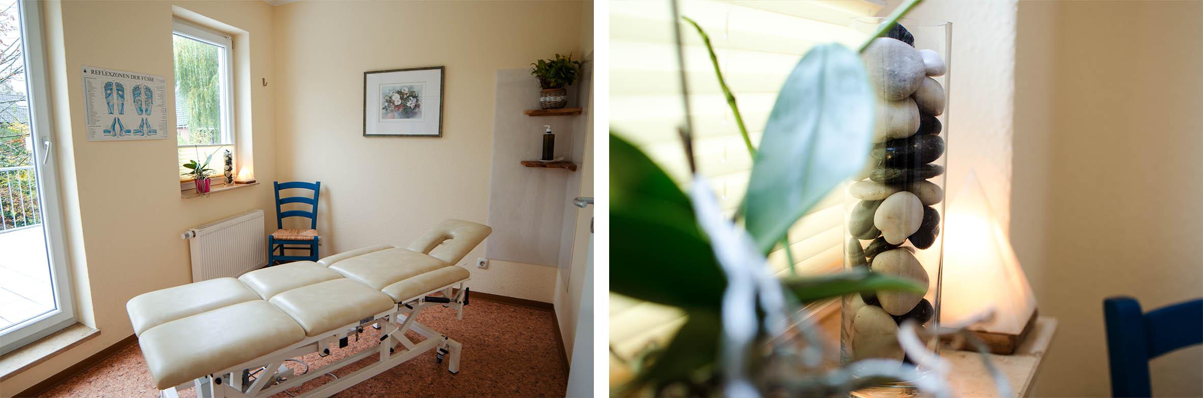 Behandlungszimmer im Therapiehaus Panta rhei